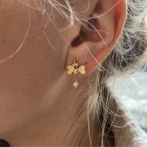 Bombylius major earrings